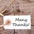 tag with many thanks stock photo © nelosa