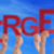 many people hands holding red word emergency blue sky stock photo © nelosa
