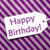 label on purple wrapping paper text happy birthday stock photo © nelosa