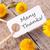 etiqueta · muchos · gracias · naturales · mirando · primavera - foto stock © nelosa