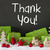christmas decoration cement snow text thank you stock photo © nelosa