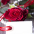 white label with red rose stock photo © nelosa