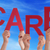 many people hands holding red word care blue sky stock photo © nelosa