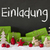 christmas decoration cement snow einladung means invitation stock photo © nelosa