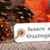 autumn label with seasons greetings stock photo © nelosa