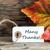 many thanks fall label stock photo © nelosa