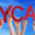 hands holding red straight word daycare blue sky stock photo © nelosa