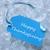 kék · címke · jég · köszönjük · világoskék · szalag - stock fotó © nelosa