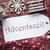 nostálgico · natal · decoração · etiqueta · texto · temporadas - foto stock © nelosa