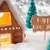 gingerbread house silver background text happy new year stock photo © nelosa