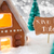 gingerbread house silver background text save the date stock photo © nelosa