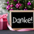 tree with gifts bokeh text danke means thank you stock photo © nelosa