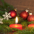 alegre · natal · ardente · velas · isolado - foto stock © nelosa