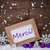 purple christmas decoration snow merci mean thanks snowflakes stock photo © nelosa