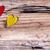 two little hearts on wooden plank stock photo © nelosa