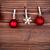 piros · arany · hópehely · karácsony · golyók - stock fotó © nelosa