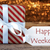atmospheric christmas gift with label happy weekend stock photo © nelosa