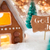 gingerbread house bronze background god jul means merry christmas stock photo © nelosa