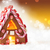 gingerbread house golden bokeh background copy space stock photo © nelosa