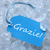 kék · címke · köszönjük · szavak · akasztás · vonal - stock fotó © nelosa