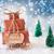 slee · sneeuw · vrolijk · christmas · geschenken · presenteert - stockfoto © nelosa