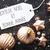 bronze · natal · flocos · de · neve · texto · feliz · ano · novo - foto stock © nelosa