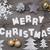 złoty · Snowflake · choinka · dekoracji · granicy · ozdoba - zdjęcia stock © nelosa