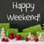 christmas decoration cement snow text happy weekend stock photo © nelosa