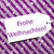 label on purple paper snowflakes frohe weihnachten means merry stock photo © nelosa