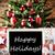 nosztalgikus · karácsonyfa · vidám · karácsony · hópelyhek · karácsonyi · üdvözlet - stock fotó © nelosa