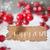 burnt label snow snowflakes text happy 2017 stock photo © nelosa