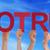 muchos · personas · manos · rojo · recto - foto stock © nelosa