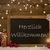 christmas card blackboard snowflakeswillkommen mean welcome stock photo © nelosa