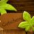 brown organic label with german text gutschein stock photo © nelosa