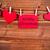 karácsony · dekoráció · fából · készült · szívek · textúra · szeretet - stock fotó © nelosa