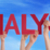 many people hands holding red straight word analysis blue sky stock photo © nelosa