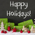 christmas decoration cement snow text happy holidays stock photo © nelosa