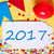party label red balloon text 2017 stock photo © nelosa