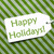 label on green wrapping paper text happy holidays stock photo © nelosa