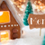 gingerbread house bronze background merci means thank you stock photo © nelosa