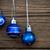 ezüst · kék · karácsony · golyók · akasztás · damaszt - stock fotó © nelosa