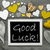 black and white chalkbord many yellow hearts good luck stock photo © nelosa