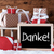 sleigh with gifts on snow danke means thank you stock photo © nelosa
