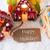 kleurrijk · peperkoek · huis · sneeuwvlokken · tekst · vaarwel - stockfoto © nelosa