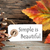 autumn label with simple is beautiful stock photo © nelosa