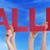 veel · mensen · handen · Rood · woord - stockfoto © nelosa