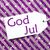 label on purple paper snowflakes god jul means merry christmas stock photo © nelosa