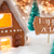 gingerbread house bronze background text happy 2017 stock photo © nelosa