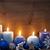 Vintage · синий · свечей · северный · олень · мяча - Сток-фото © nelosa