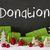 christmas decoration cement snow text donation stock photo © nelosa
